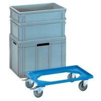 FETRA Kistenroller Trgf.250kg PA-Bereifung L605xB405mm ABS-Ku.blau FETRA