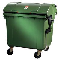 SULO Müllgroßbehälter 1,1 m³ HDPE grün fahrbar,n.DIN EN 840-3 SULO