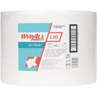 KIMBERLY-CLARK Putztuch WYPALL L10 EXTRA 7202 L380xB235ca.mm weiß 1-lagig,perforiert