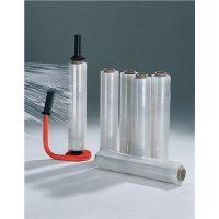 Stretchfolienset Spezial L300 mxB450 mm 20 µm transp.m.1 Abroller u.6 Rollen