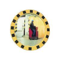 SPL Sicherheits-/Verkehrsspiegel D.600mm Ku.,gelb/schwarz f.2 Richtungen 11m SPL