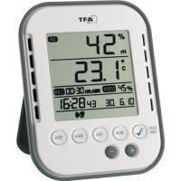 TFA Thermo-Hygrometer Messber.0 b.50GradC/Luft 1-99% H107xB83xT21mm Ku.
