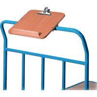 FETRA Schreibtafel HO m.Papierklammer u.Stiftablage f.Plattformwagen DIN A4 quer
