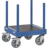 FETRA Langmaterial-Roller L700xB700mm STA blau Trgf.1500kg Plattform m.4 Rungen