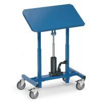 FETRA Materialständer Ladefl.-L750xB450mm verstellb.H.720-1080mm brillantblau fahrbar