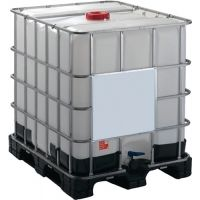 GRAF Gefahrgutcontainer 1000l L1200xB1000xH1171mm m.verz.Stahldrahtgitter/Ku.-Palette