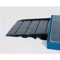 ASECOS Auffahrrampe PE schwarz f.Flachwannen L940xB900mm