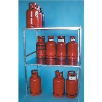 BAUER Gasflaschengestell L1300xB1000xH850mm verz.f.11kg Gasflaschen