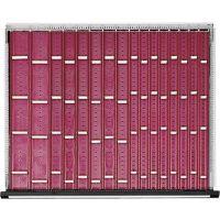 Schubladen-Unterteilungsmaterial Front-H.60mm Muldenplatten f.Schrank-B.910mm