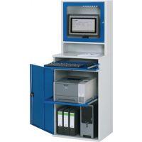 RAU Computerschrank H1770xB650xT520mm stationär enzianblau/lichtgrau Monitorgehäuse