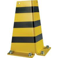 LISTA Anfahrschutz H322xL166/166mm L-Form Stahlbl.schwarz/gelb