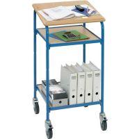 FETRA Fahrbares Stehpult fahrbar H1195xB610xT615mm brillantblau 2 Böden