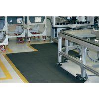 COBA Arbeitsplatzbodenbelag Bodenelement L900xB900xS16mm grau Naturkautschuk