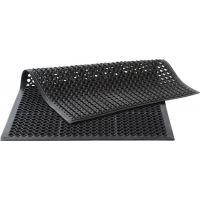MILTEX Arbeitsplatzbodenbelag Fertigmatte L1500xB900mm schwarz Naturkautschuk