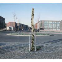 GAH Baumschutzbügel H1500xB360mm o.Querholm silber STA TZN
