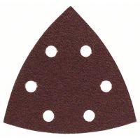 BOSCH Schleifblatt-Set für Deltaschleifer, 93 mm, 60, 6 Löcher, 25er-Pack