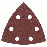 BOSCH Schleifblatt-Set für Deltaschleifer, 93 mm, 80, 6 Löcher, 25er-Pack