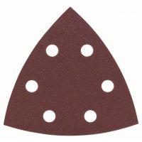 BOSCH Schleifblatt-Set für Deltaschleifer, 93 mm, 120, 6 Löcher, 25er-Pack