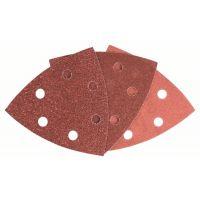 BOSCH Schleifblatt-Set für Deltaschleifer, 93 mm, 60 - 240, 6 Löcher, 25er-Pack