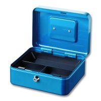 BURG-WÄCHTER OB-Geldkassette, mit Hartgeldeinsatz, Money 5020, Stahlblech blau, 10690