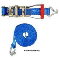 SOLID Ratschenzurrgurt 2-teilig mit Spitzhaken blau