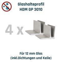 Hygieneschutzwand Montageset 4er - Bundle - für bauseitige Scheibe