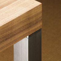 HETTICH Design-Tischbein Afio 700 mm, Edelstahl gebürstet