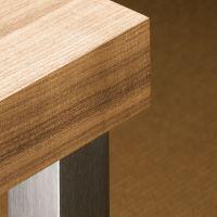 HETTICH Design-Tischbein Afia 700 mm, Edelstahl gebürstet