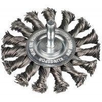 KLINGSPOR Rundbürste mit Schaft, gezopfter Draht BRS 600 Z