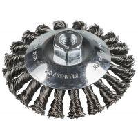 KLINGSPOR Kegelbürste mit Gewinde, gezopfter Draht BK 600 Z