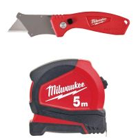 MILWAUKEE Pro Compact 5m Tape + Fastback Compact Knife
