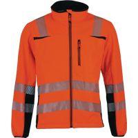 PREVENT TRENDLINE Warnschutzsoftshelljacke Prevent® Trendline Gr.XXXL orange/schwarz