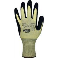 PROMAT Handschuhe gelb/schwarz Nyl.m.Naturlatex