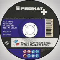 PROMAT Premium Schruppscheibe A24Q-BFX 2in1 gekr.INOX/Stahl
