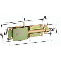 GAH Sicherheits-Stallriegel L.200mm B.125mm STA galv. gelb verz. GAH