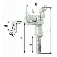 GAH Torfeststeller Grauguss verz.6,5mm GAH