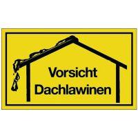 PROMAT Hinweiszeichen Vorsicht Dachlawinen L250xB150mm gelb schwarz Ku.