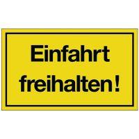 PROMAT Hinweiszeichen Einfahrt freihalten! L250xB150mm gelb schwarz Ku.