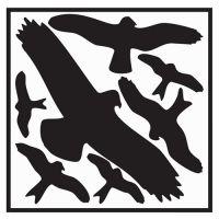 PROMAT Aufkleber L290xB320 mm Vogelschutzset,Vogelsymbole Folie selbstkl.