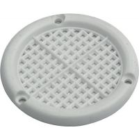 Lüftungsrosette Durchmesser 60mm Kunststoff weiß zum Aufschrauben