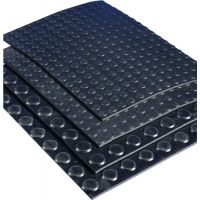 MÖLLER Gummiflachnoppenmatte ElaQprem B.1,20m L.10m D.3mm schwarz NR/SBR Rl.MÖLLER
