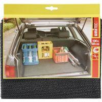UNITEC Kofferraummatte PVC grau zuschneidbar,rutschhemmend L60xB100cm UNITEC