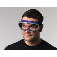 PROMAT Vollsichtschutzbrille DAYLIGHT TOP EN 166 Rahmen blau,Scheibe klar PC PROMAT