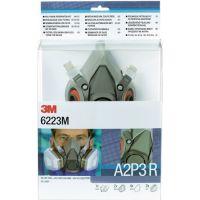 3M Atemschutzhalbmaskenset 6223 SET - A2P3R EN 140 mit Filter, Größe M