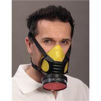 EKASTU Atemschutzhalbmaske Polimask GAMMA/Silikone EN 140 o.Filter,Silik.EKASTU