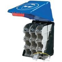 GEBRA Sicherheitsaufbewahrungsbox SecuBox-Maxi 12 blau L236xB315xH200ca.mm