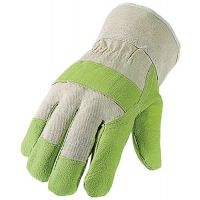 PROMAT Kunstlederhandschuhe Gr.10,5 grün/naturfarben 100%Vinyl PSA I ASATEX
