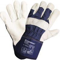 PROMAT Handschuhe Elbe Gr.10 blau Leder EN 388 PSA II PROMAT