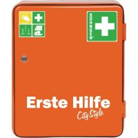 SÖHNGEN Verbandschrank HEIDELBERG City Style B302xH362mm xT140ca.mm orange 1-türig
