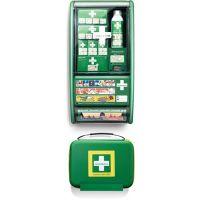 CEDERROTH Erste Hilfe Station First Aid Station Set B290xH560xT120ca.mm grün CEDERROTH